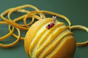 Miniature People in a World Made ofFood