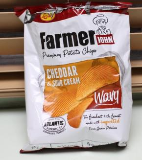 Farmer John Cheddar and Sour Cream chips