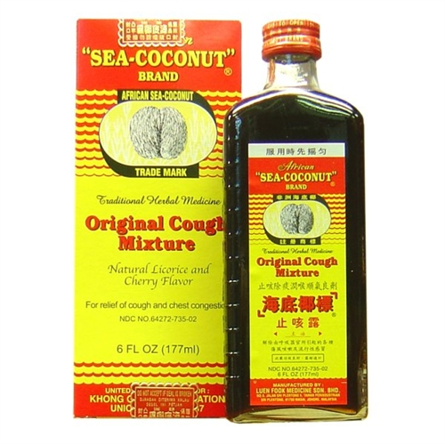 I have no idea what an African Sea Coconut is, but this really works. It leaves throat feeling warm and cozy! Hooray herbal remedies